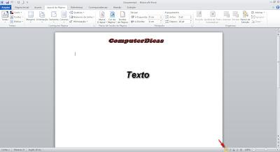Layout de impressão do Word 2010