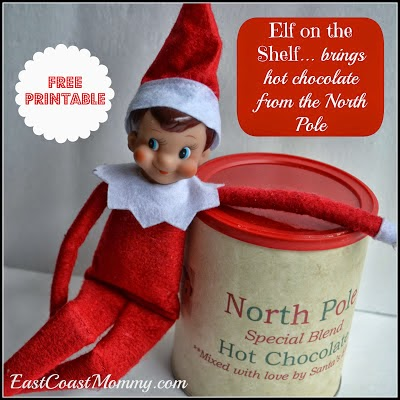 East coast mommy a month of fantastic elf on the shelf for Elf on the shelf chocolate kiss