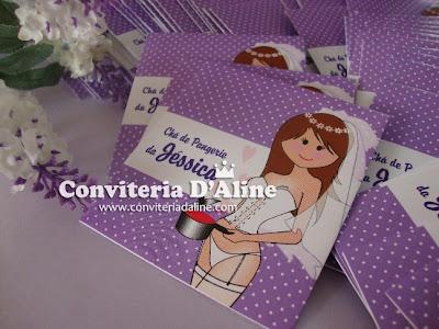 lembrança chá lingerie noivinha lilás