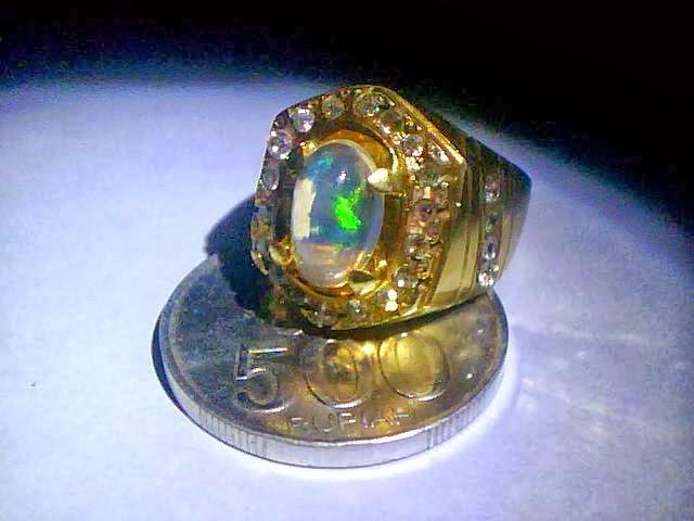 Cara merawat batu akik kalimaya black opal