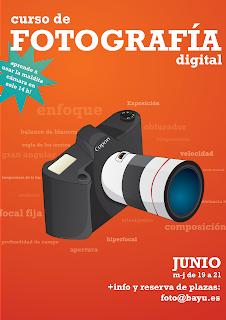 Cartel del Curso de Fotografía Digital