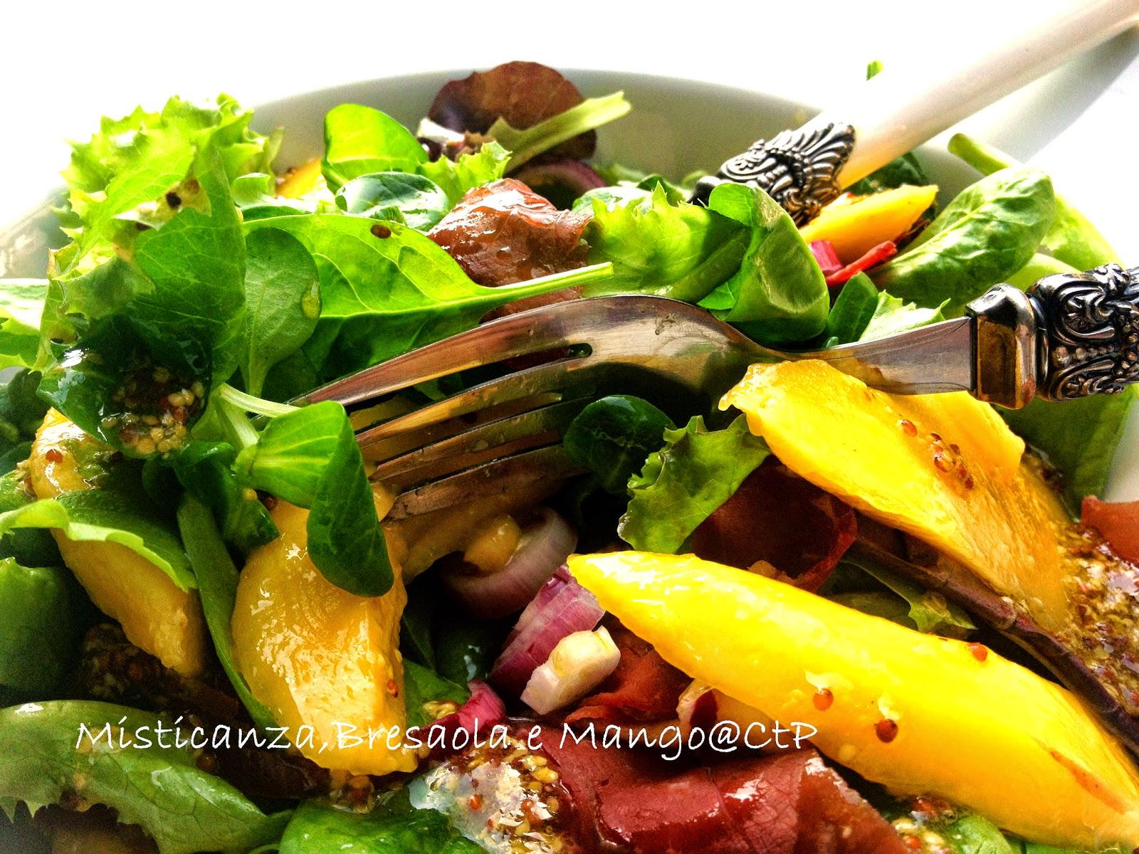 insalata mistcanza bresaola mango olio extra vergine di oliva senape