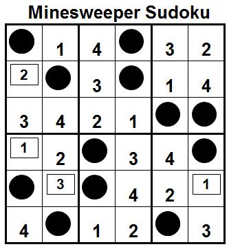 Mini Minesweeper Sudoku (Fun With Sudoku #36) Solution