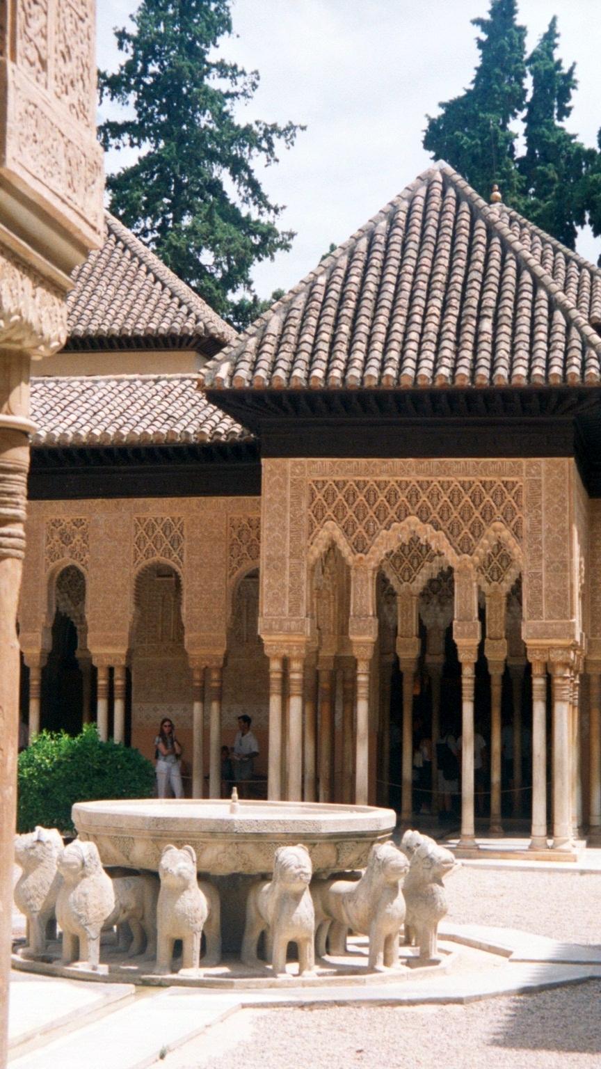Postcards from Spain: Granada Alhambra patio de los leones