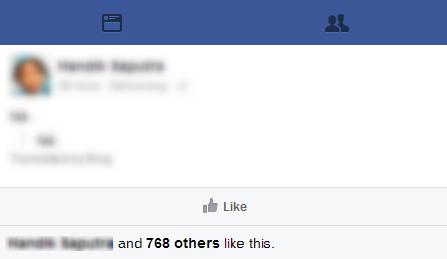 Cara Mendapatkan Banyak Like Pada Status Facebook Tanpa Bot