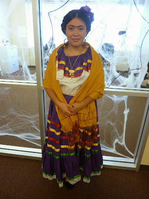 GotPrint employee wearing Frida Kahlo Halloween costume 2013