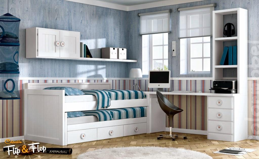 Dormitorios juveniles blancos - Habitaciones infantiles en blanco ...