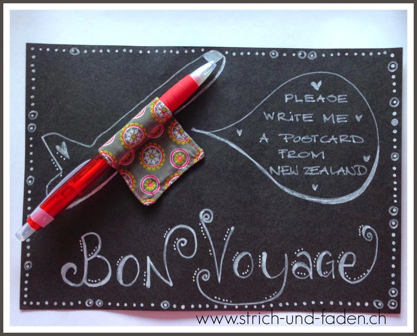 mit Strich und Faden | Magnet für die Reise - Bon Voyage
