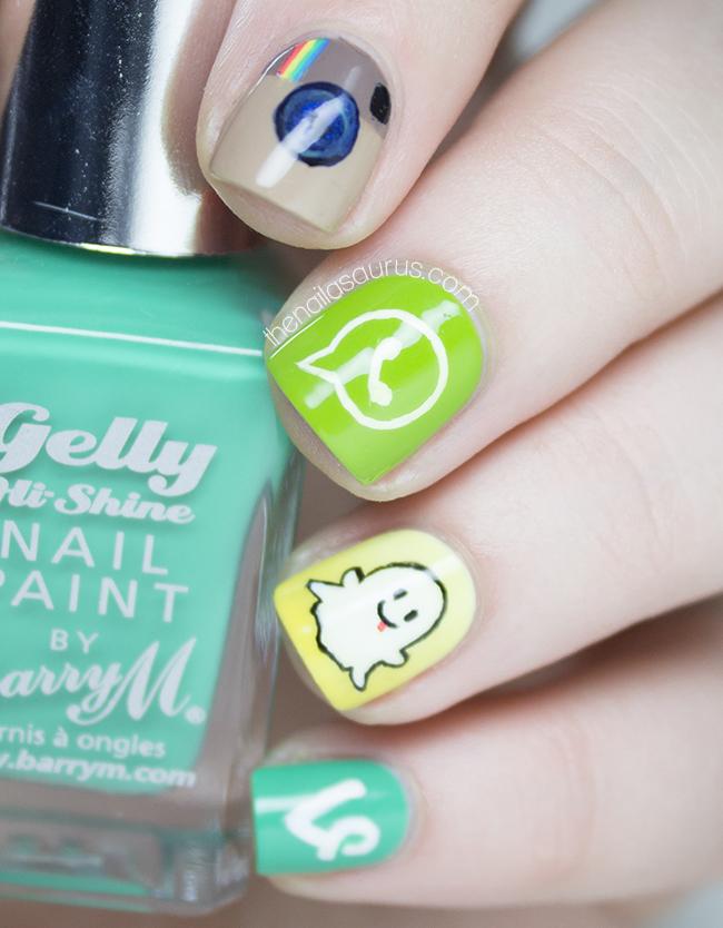 Social Media Apps Nail Art - The Nailasaurus | UK Nail Art Blog