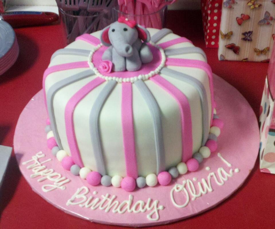 Olivias Elephant Birthday Cake