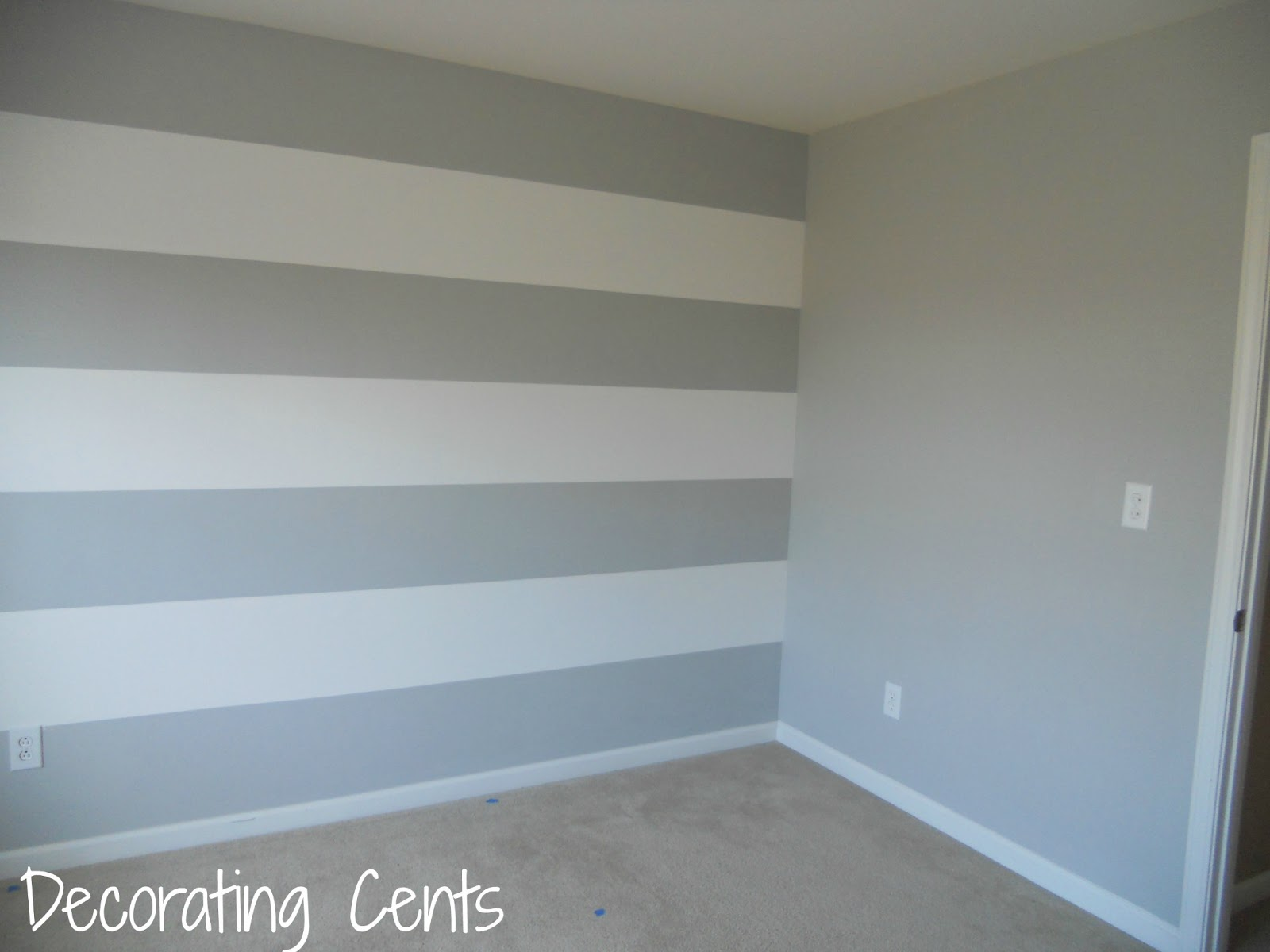 Decorating cents painting a striped wall for Painting stripes on walls