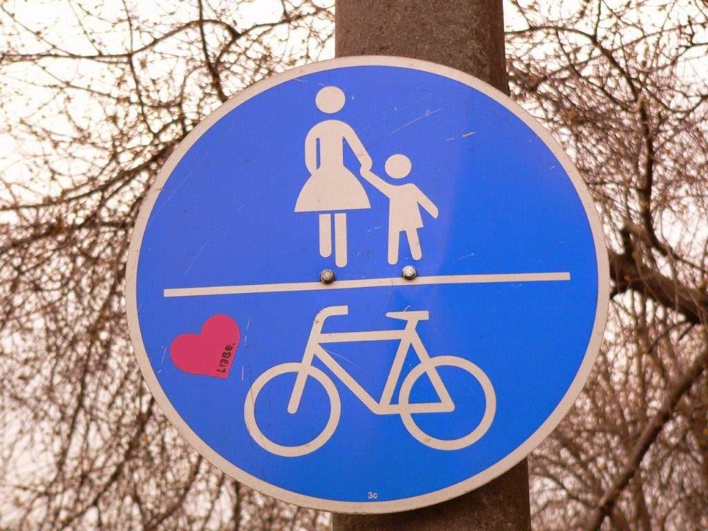 Herz Fahrrad Schild Rhein Remagen