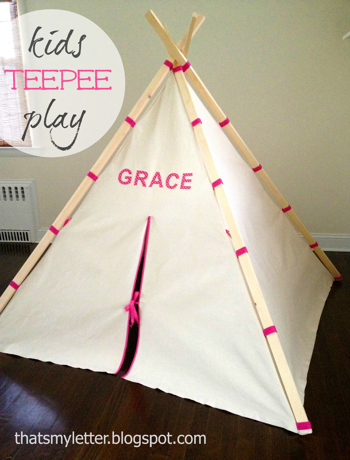 DIY Kids Play Teepee - Jaime Costiglio