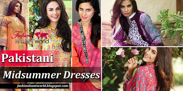 Stylish And Modern Midsummer Dresses By Pakistani Top Brands