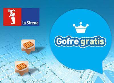Gofres gratis en establecimientos La Sirena.