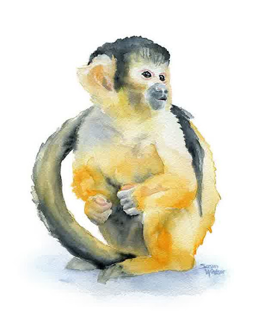 animal watercolour paintings