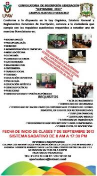 La Universidad Popular Autonoma de Veracruz te esta esperando....