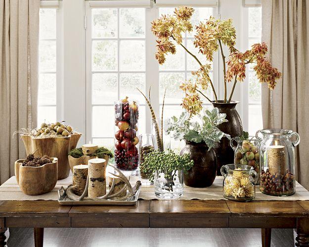 Decoraci n f cil centros de mesa con flores y frutos secos for Centros de mesa para comedor