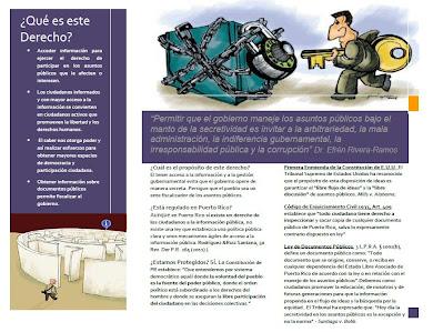 Folleto Ciudadano: Derecho de Acceso a Información y Documentos Públicos
