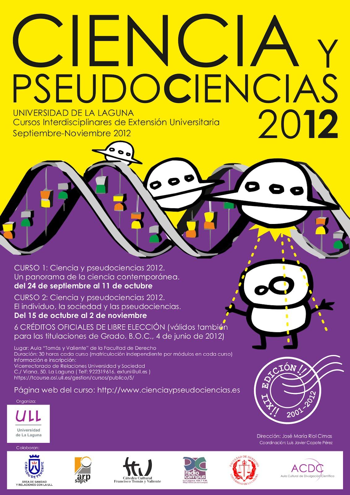 Cartel de ciencia y pseudociencias