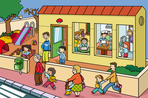 Un niño entrando al colegio - Imagui