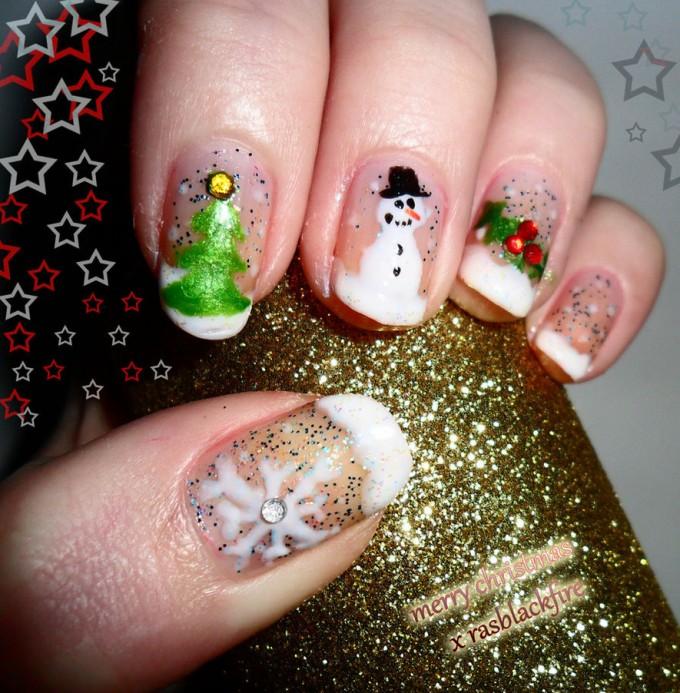 Im genes de u as navide as f ciles belleza y peinados - Decoraciones navidenas faciles ...