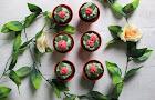 rose plant pot cupcakes.