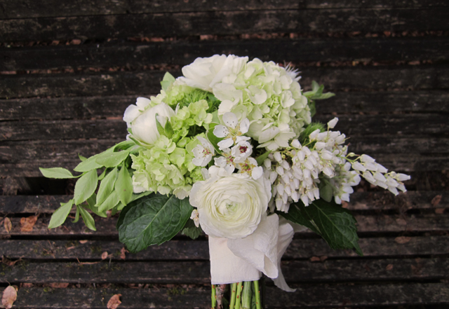 A Wayward Wind - Floral Friday - Bouquet - White and Green