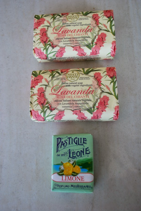 Gifts from Italy - soap and candies
