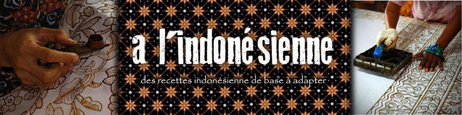 à l'indonésienne