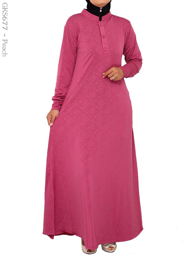 Gamis cantik muslimah gks677 busana muslim murah terbaru Suplier baju gamis remaja harga pabrik bandung