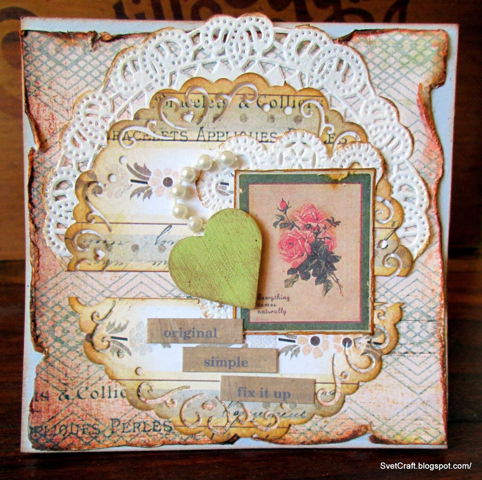 Vintage Card by Sveta @ SvetCraft