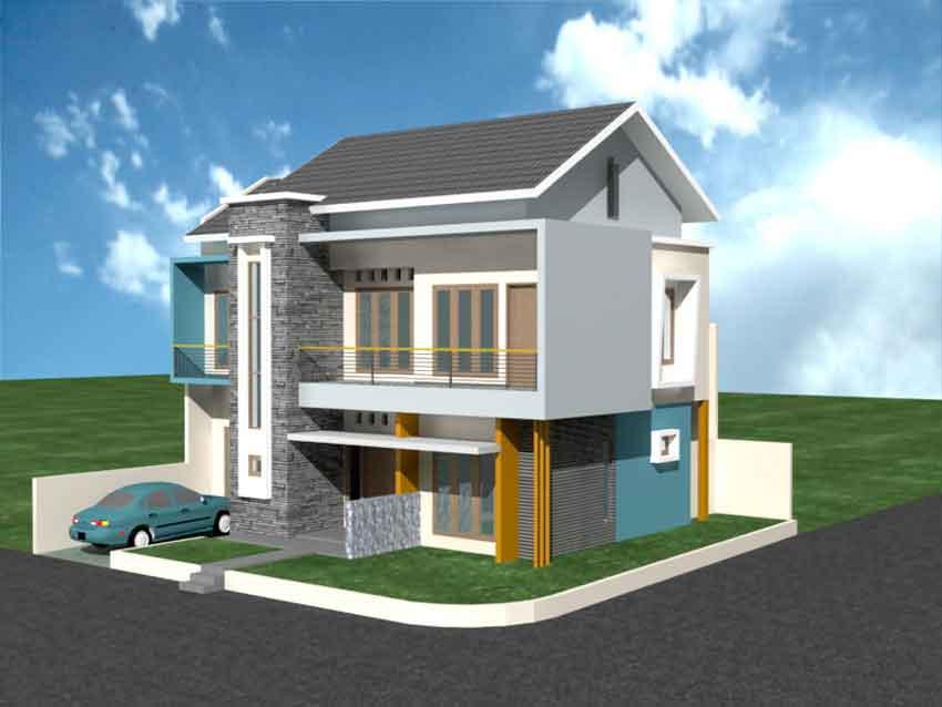 Membangun Rumah Minimalis untuk Lahan Kaveling Sudut  Desain Rumah