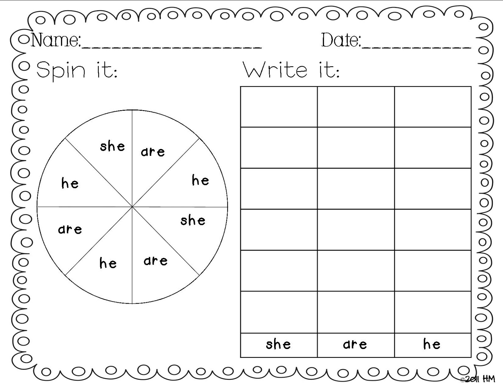 Tidbits: sight Kindergarten! writing  First Wheeler's word printable Blogger: Miss Mrs. Guest Grade