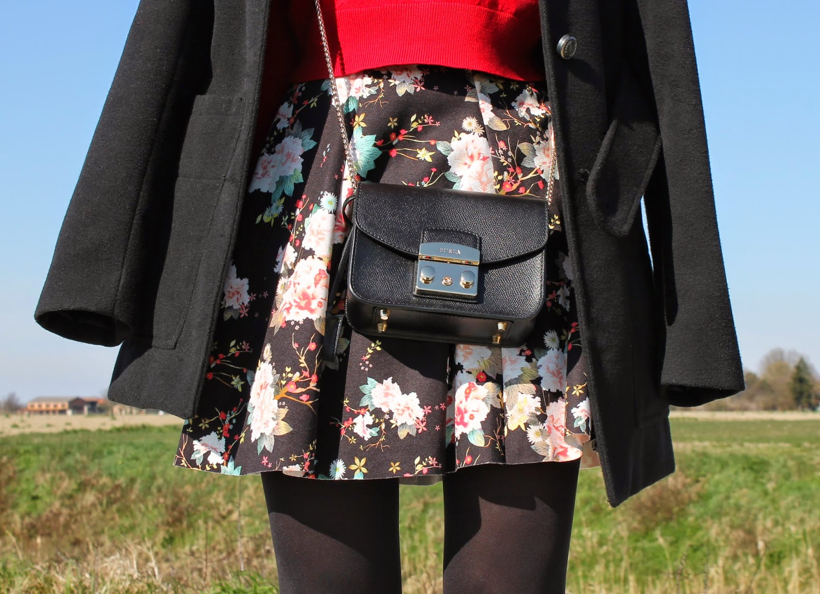 Furla metropolis and flowered skirt