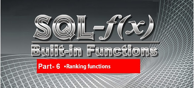 Microsoft SQL Server Training Online Learning Classes Built in functions Ranking