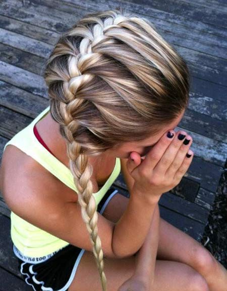 Entirely from heart 6 most popular teen hairstyles keep adding small sections of hair from the sides of your braid till the end of the head you can try various variations in french braid as well ccuart Gallery