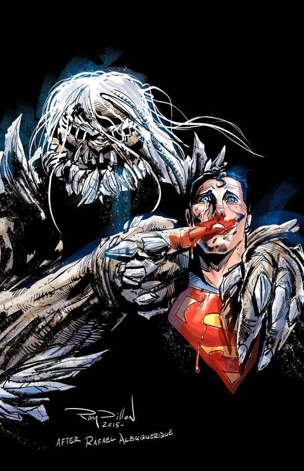 Ray Dillon Superman / Doomsday response Batgirl #41