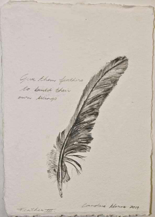 Candice Herne: Drawing Feathers for a week - Feather 3