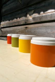 Pots à condiments/épices Tupperware - Années 70