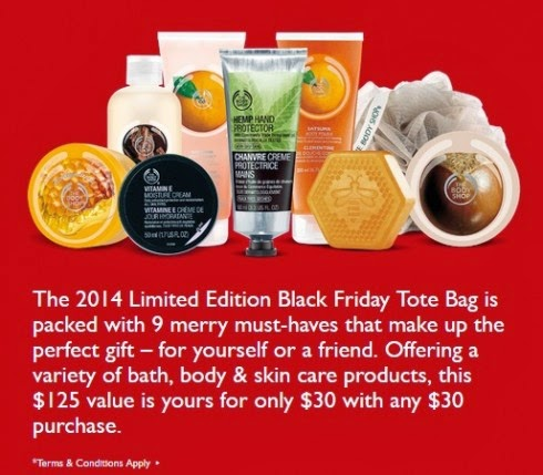 The Body Shop -- Get a Tote Filled with Goodies (a $125 Value) for $30 With Your $30 Purchase
