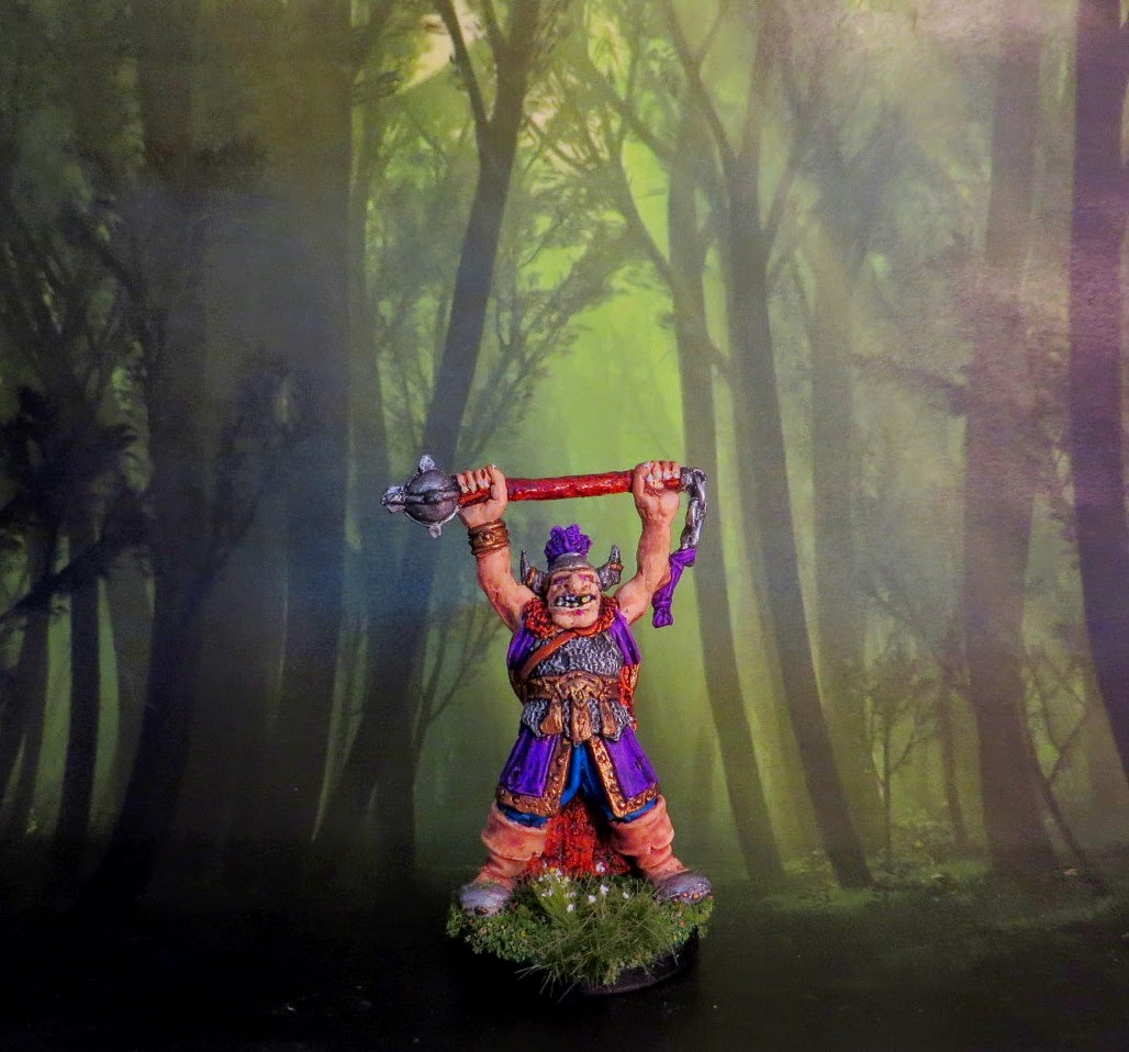 Citadel, Games, Workshop, Regiment, Reknown, RR8, Golgfag, ogre, painted, slaanesh, chief,