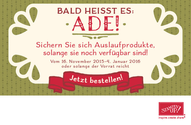 Auslaufliste, stampin up