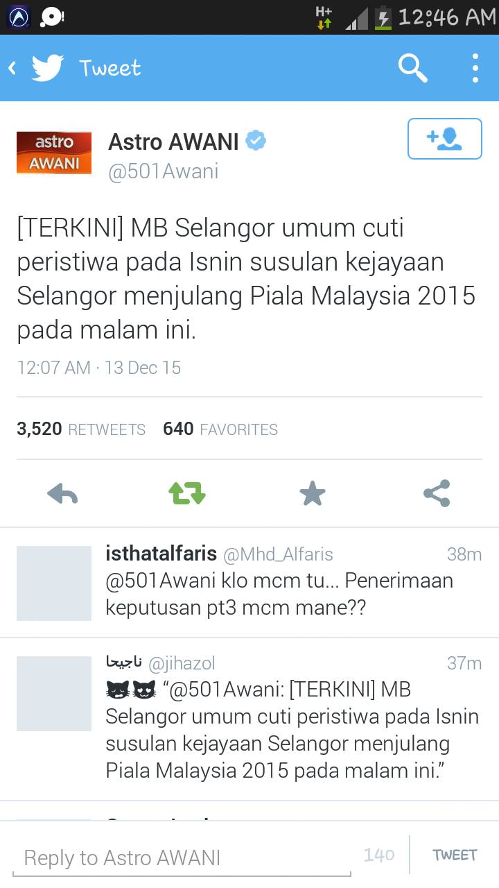 MB Selangor umum Selangor cuti pada hari Isnin
