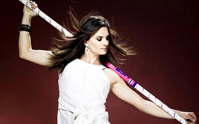 Yelena Isinbayeva Beautiful Russian Pole Vaulter 2013 Hd Desktop Wallpaper