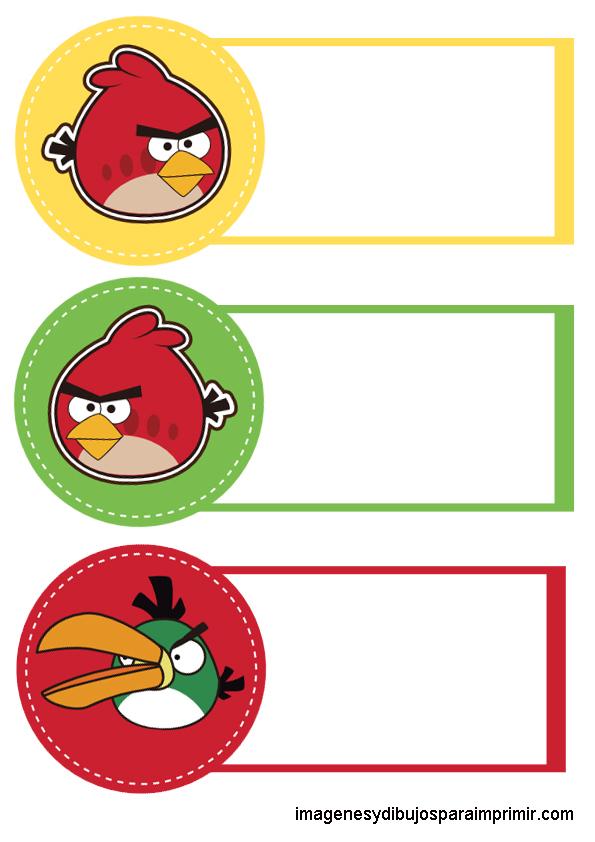 etiquetas grandes para cuadernos etiquetas para cuadernos angry birds ...