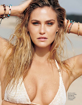 Bar Rafaeli pose nude and topless in Elle France July 2012