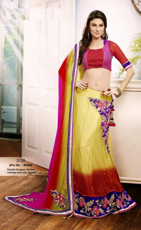 Floral Bollywood Lehenga Collection For Young Girls By Avalon From 2014-15
