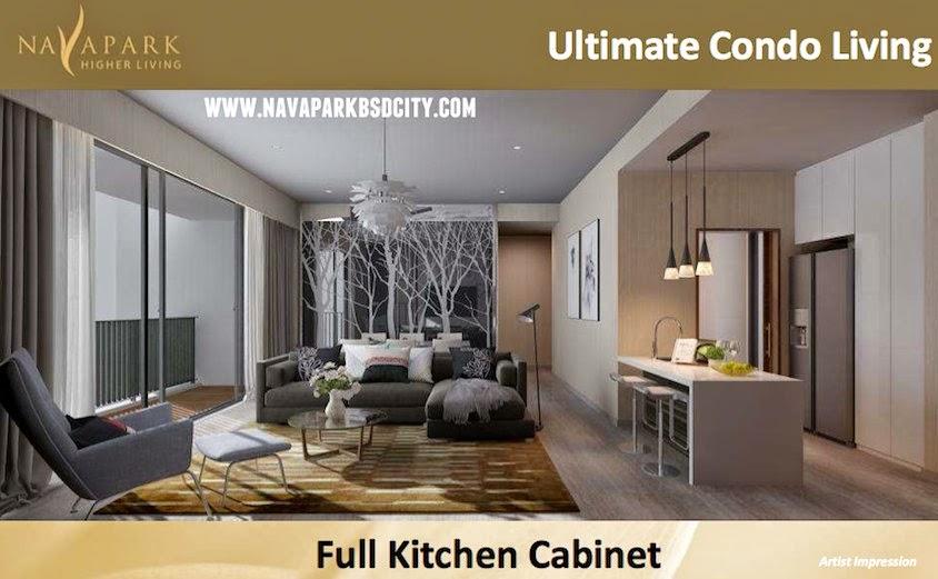 Full Kitchen Cabinet Marigold Nava Park Condo BSD