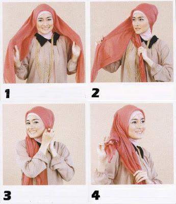 cara pakai hijab segitiga